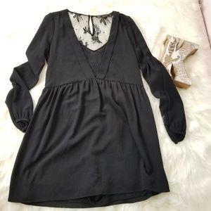 ZARA Trafaluc Black Longsleeves Romper mini dress